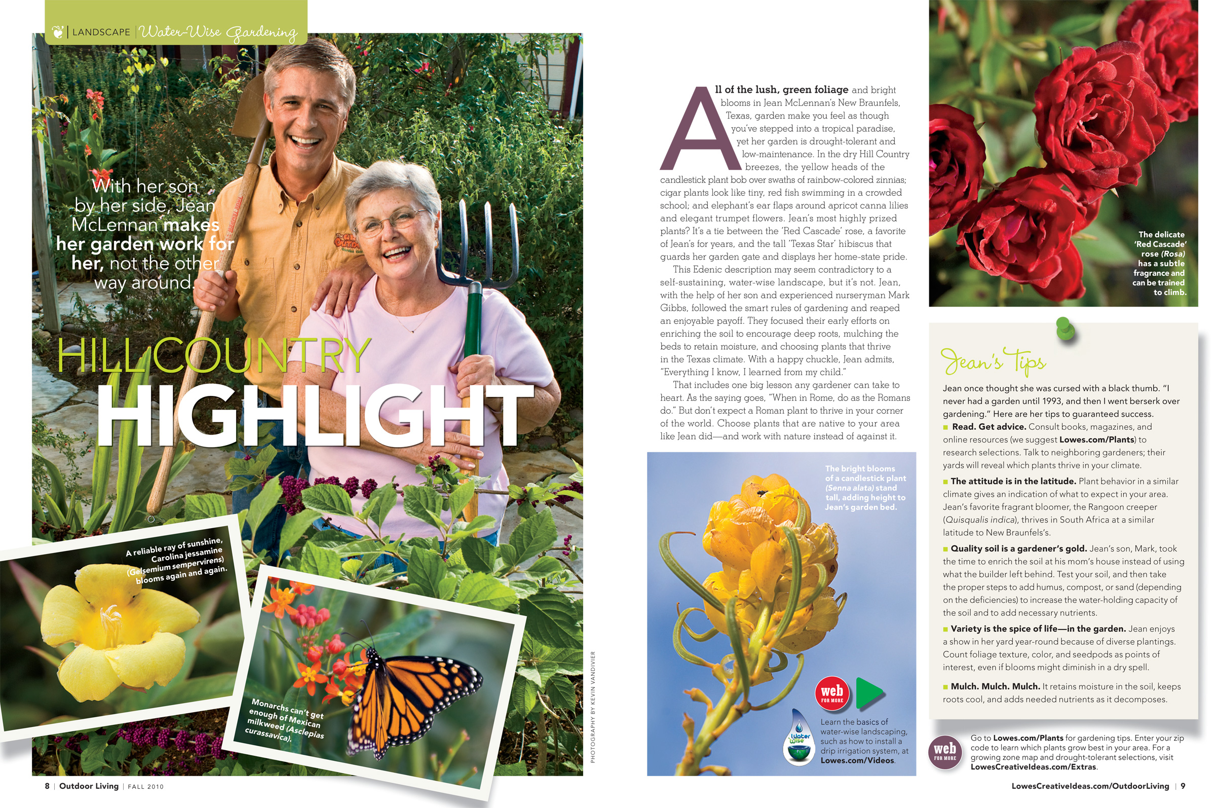Lowe S Outdoor Living Magazine Fall 2010 Hill Country Highlight Mary Bet